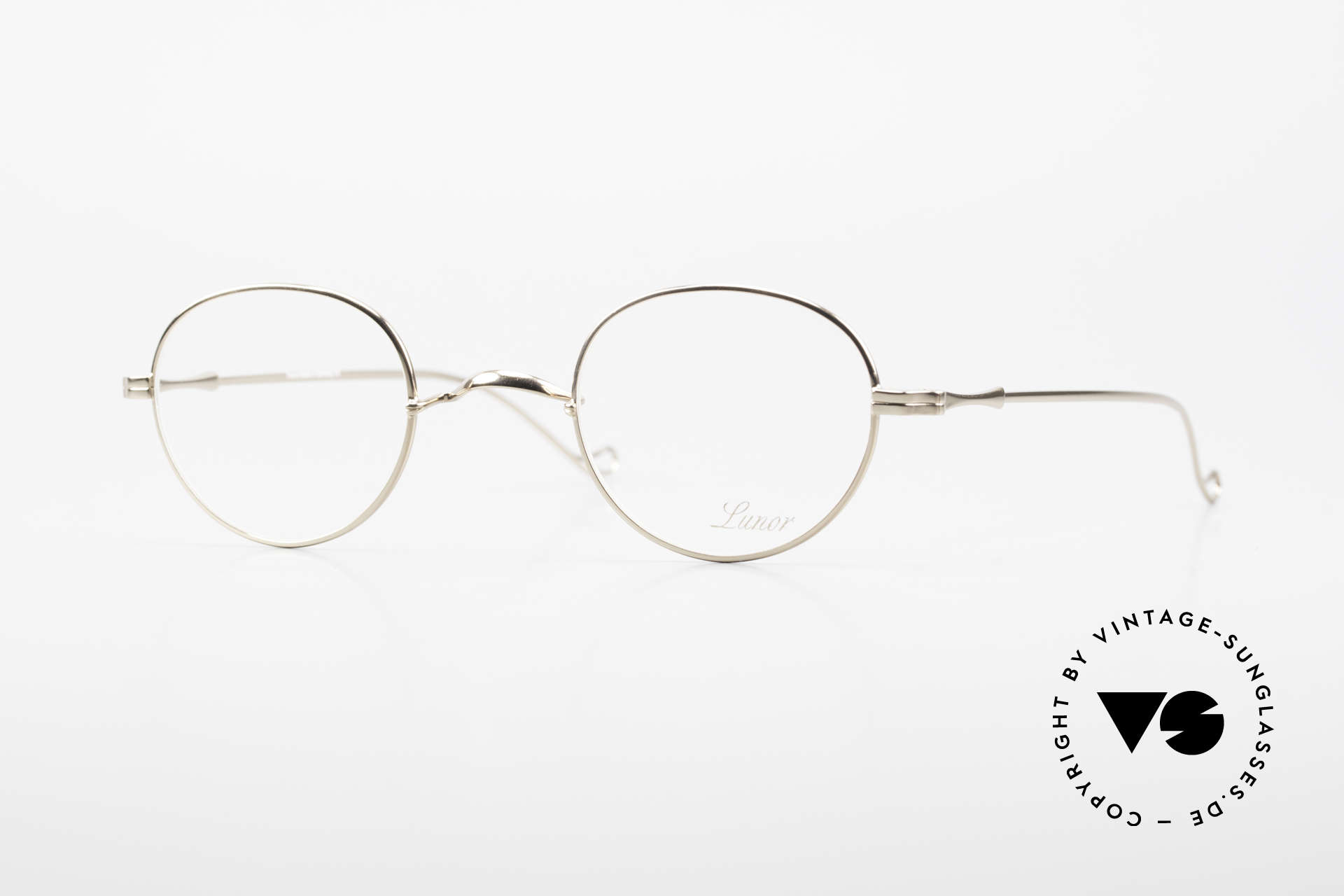 "Lunor II 22 Lunor Eyeglasses Gold Plated, vintage Lunor eyeglasses of the old ""LUNOR II"" series, Made for Men and Women"