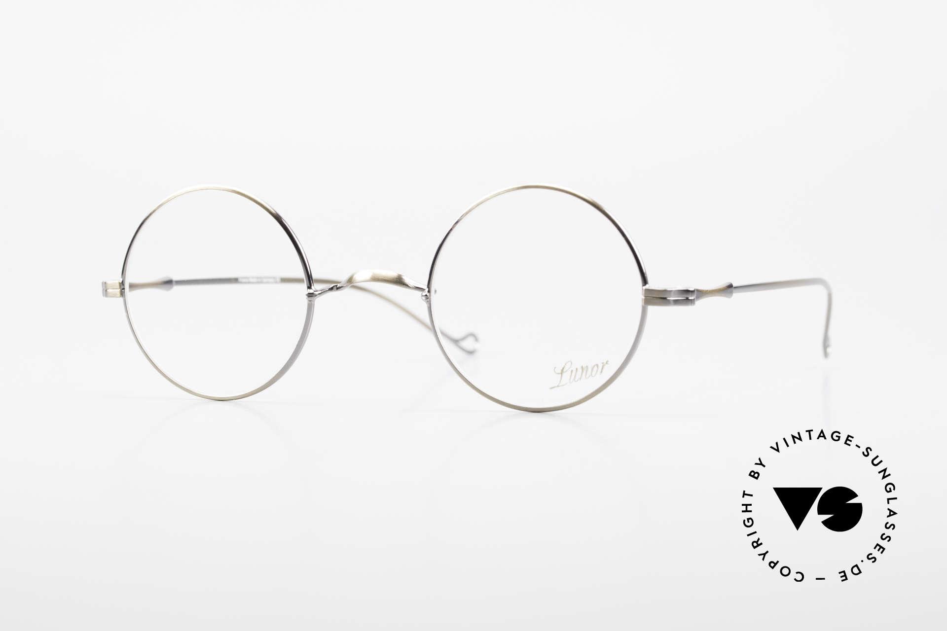 "Lunor II 23 Round Lunor Eyeglass-Frame, round Lunor eyeglasses of the old ""LUNOR II"" series, Made for Men and Women"