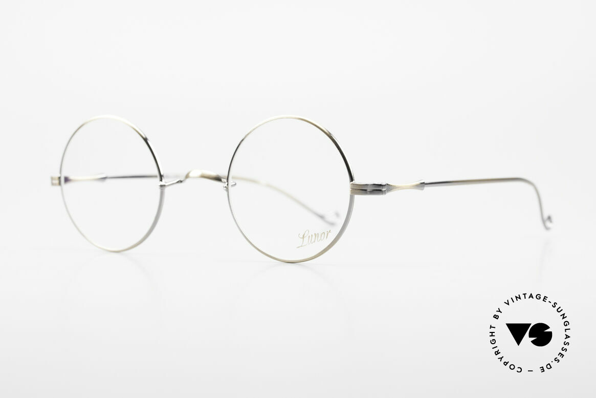 Lunor II 23 Round Lunor Eyeglass-Frame, circular frame design in M size 42mm with a W bridge, Made for Men and Women