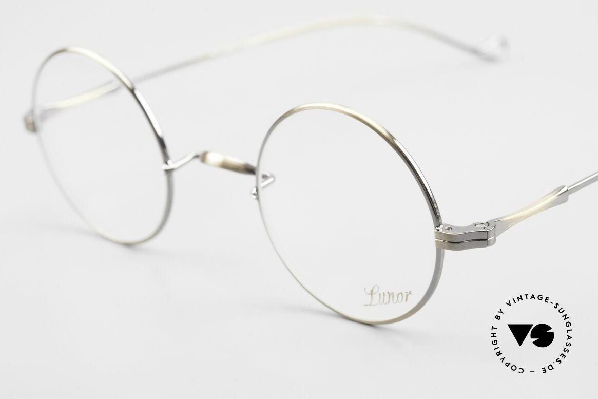 Lunor II 23 Round Lunor Eyeglass-Frame, noble, classy, timeless = a genuine LUNOR ORIGINAL, Made for Men and Women