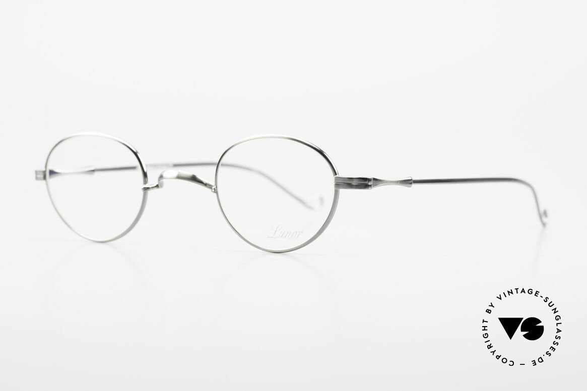 Lunor II 20 Lunor Eyeglasses Unisex Small, plain design with a W-shaped bridge, ANTIQUE SILVER, Made for Men and Women