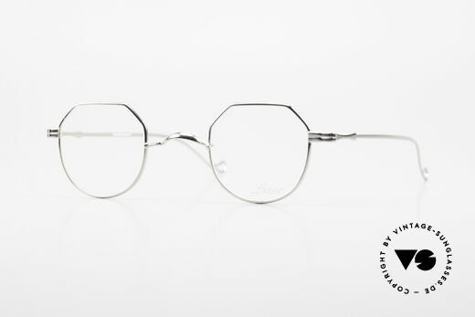 Lunor II 18 Square Panto Eyeglasses Metal Details