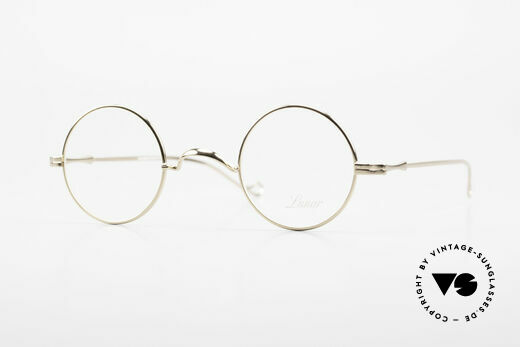 Lunor II 12 Small Round Gold Glasses Details