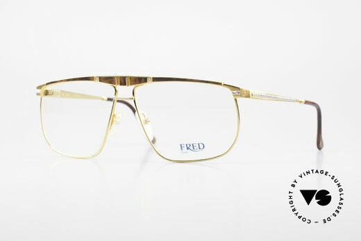 Fred Ocean Men's Luxury Glasses 22kt Gold Details