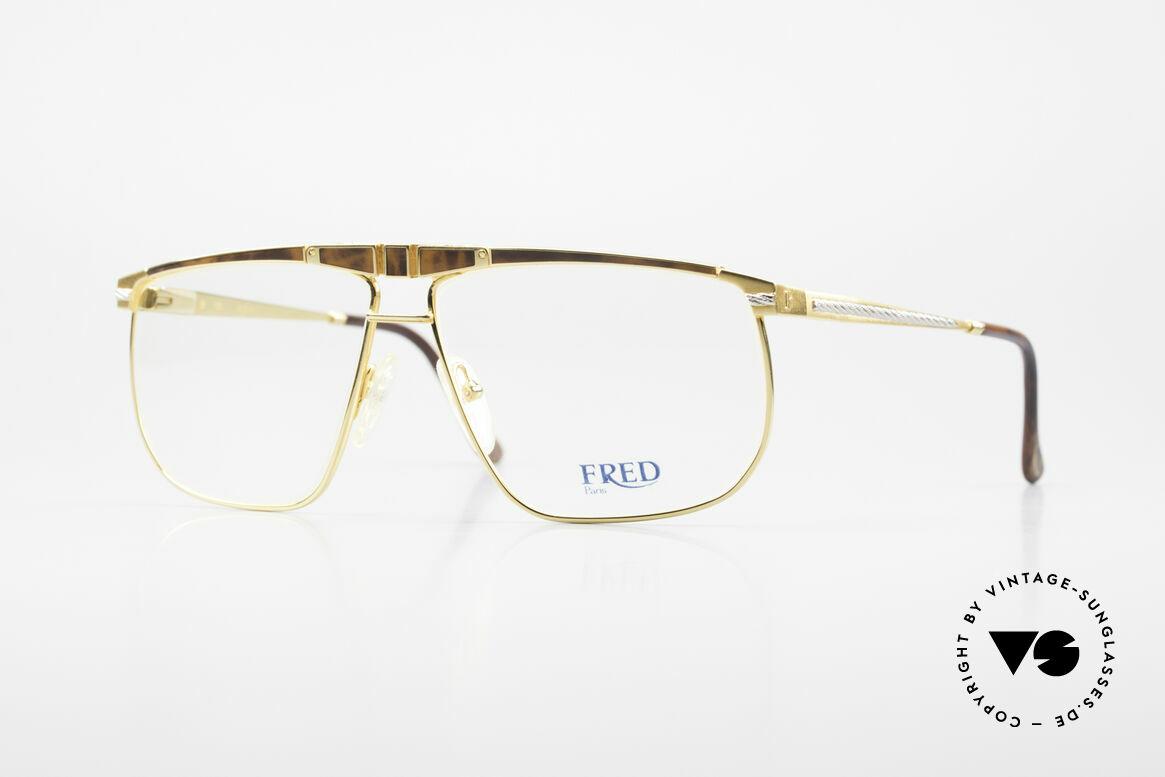 Fred Ocean Men's Luxury Glasses 22kt Gold, Fred glasses from the 90's, model Ocean in size 61/12, Made for Men