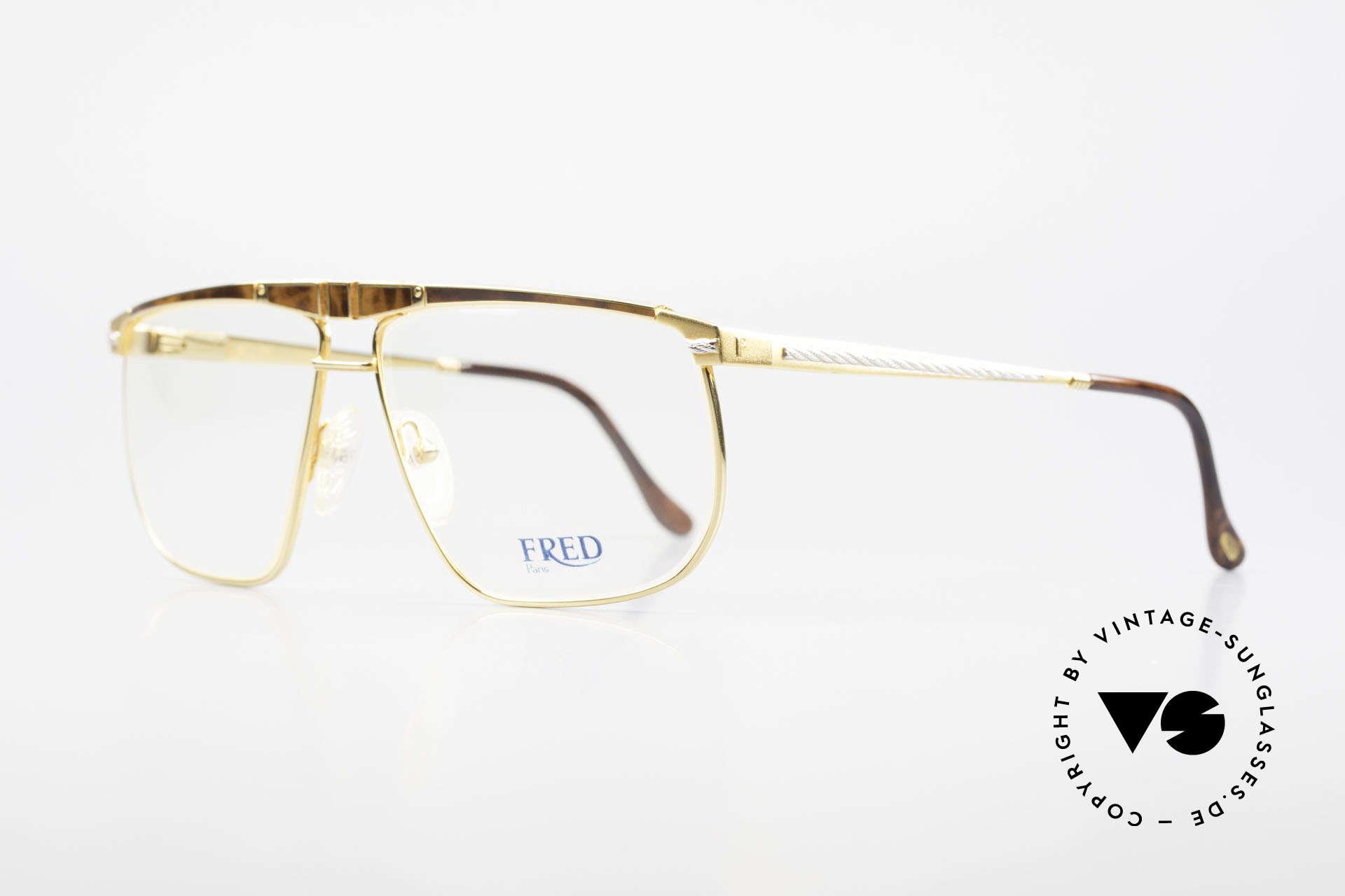 Fred Ocean Men's Luxury Glasses 22kt Gold, luxury eyeglasses (22ct gold-plated) for connoisseurs, Made for Men