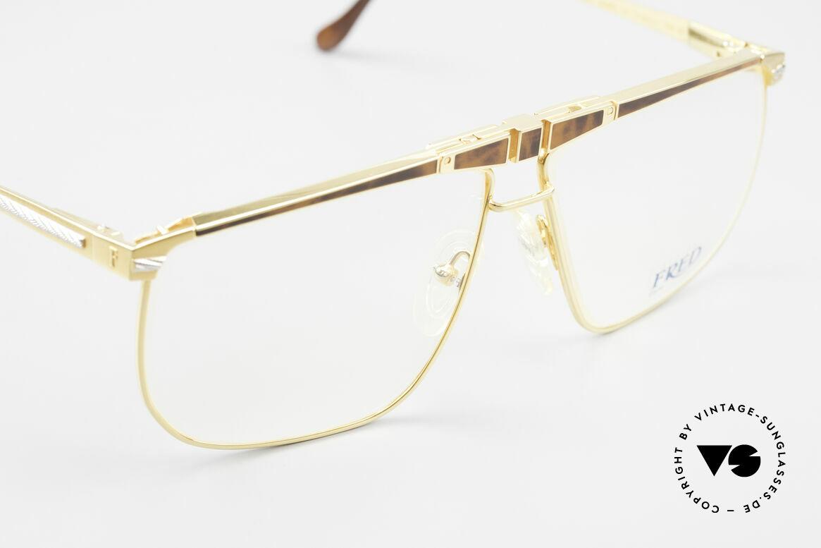 Fred Ocean Men's Luxury Glasses 22kt Gold, unworn vintage ORIGINAL & NO RETRO GLASSES, Made for Men