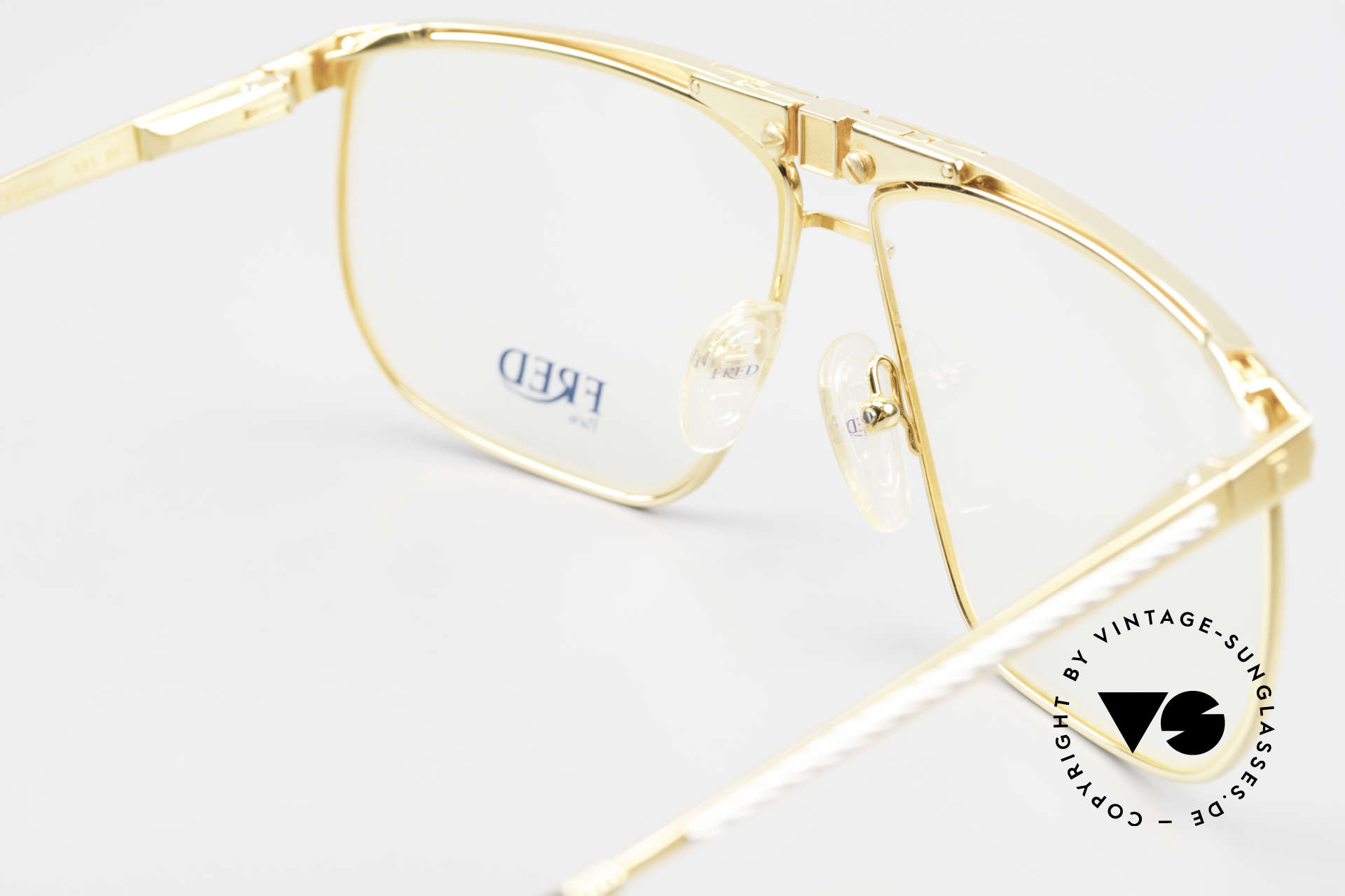 Fred Ocean Men's Luxury Glasses 22kt Gold, comes with a Fred box and a hard case by LONGINES, Made for Men