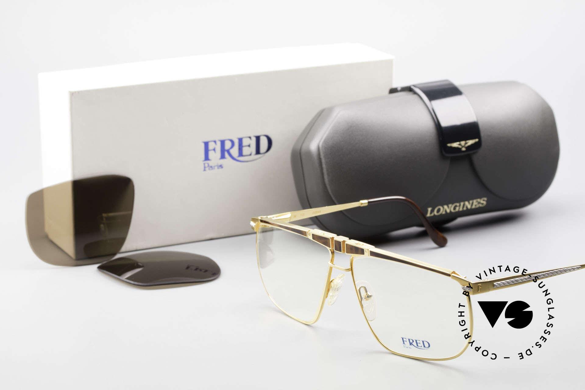 Fred Ocean Men's Luxury Glasses 22kt Gold, Size: medium, Made for Men