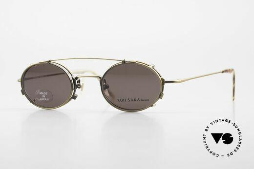 Koh Sakai KS9711 Vintage Glasses Oval Clip On Details