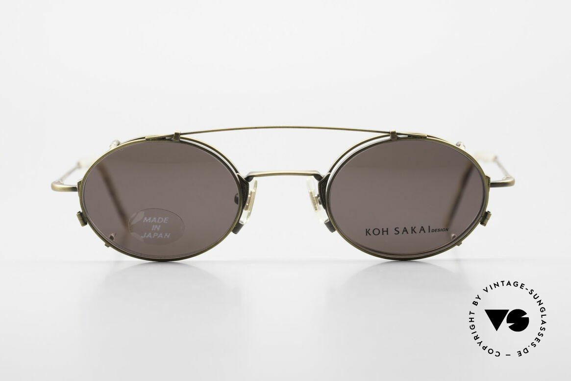 Koh Sakai KS9711 Vintage Glasses Oval Clip On, Koh Sakai, BADA and OKIO have been one distribution, Made for Men and Women