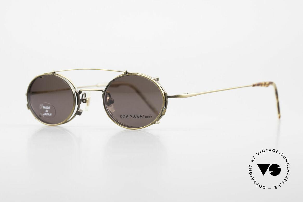 Koh Sakai KS9711 Vintage Glasses Oval Clip On, 1997 designed in Los Angeles; produced in Sabae (Japan), Made for Men and Women