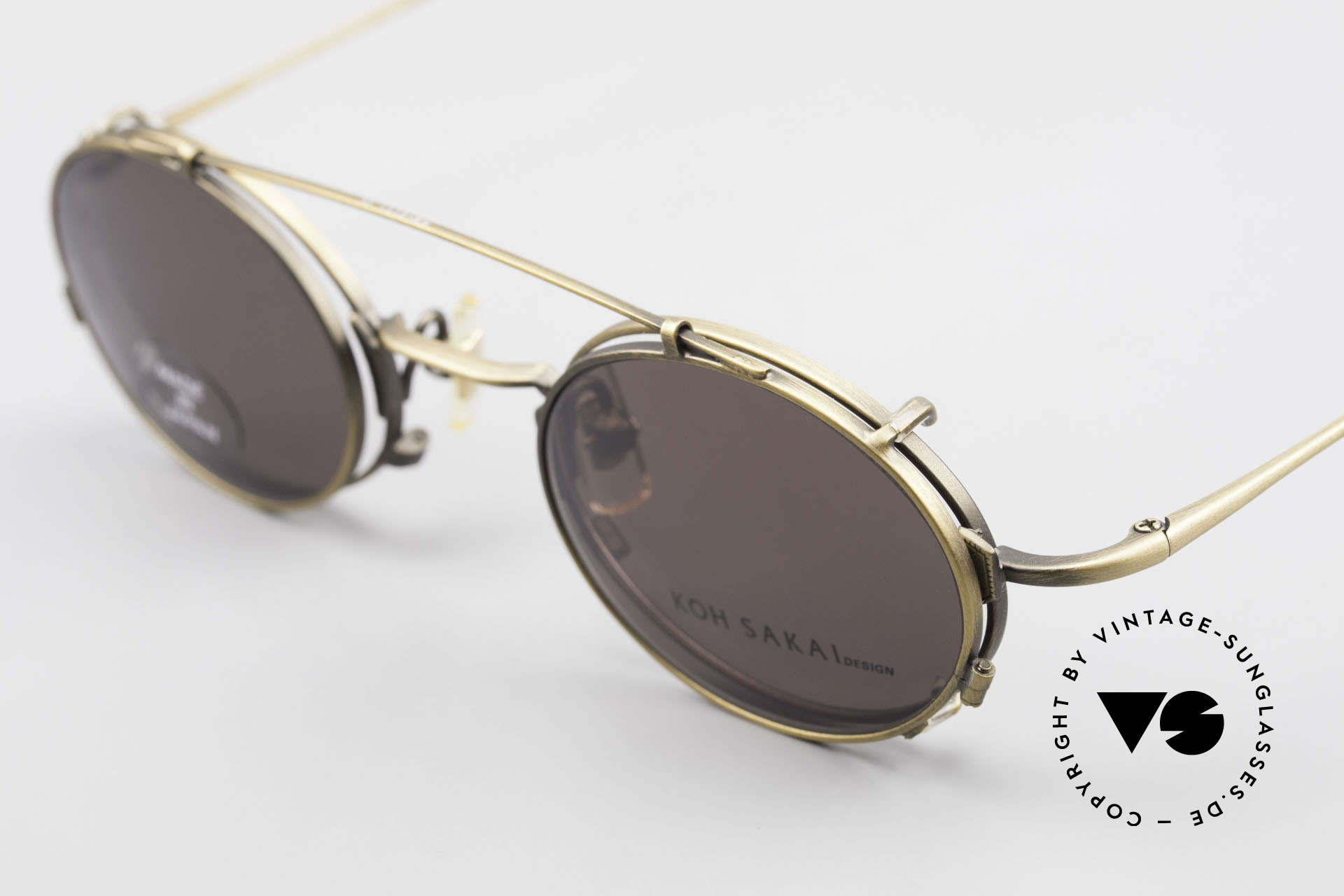 Koh Sakai KS9711 Vintage Glasses Oval Clip On, made in the same factory like Oliver Peoples & Eyevan, Made for Men and Women