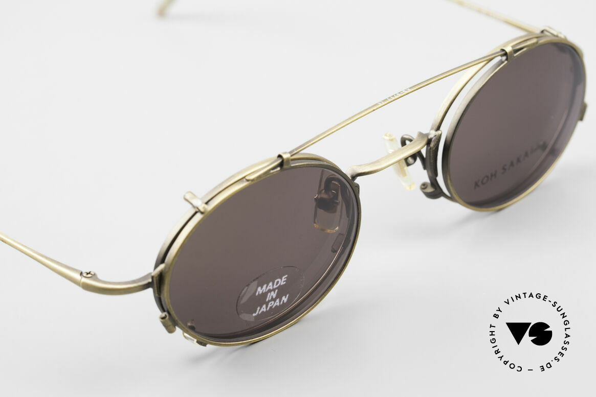 "Koh Sakai KS9711 Vintage Glasses Oval Clip On, accordingly, the same TOP QUALITY / ""look-and-feel"", Made for Men and Women"