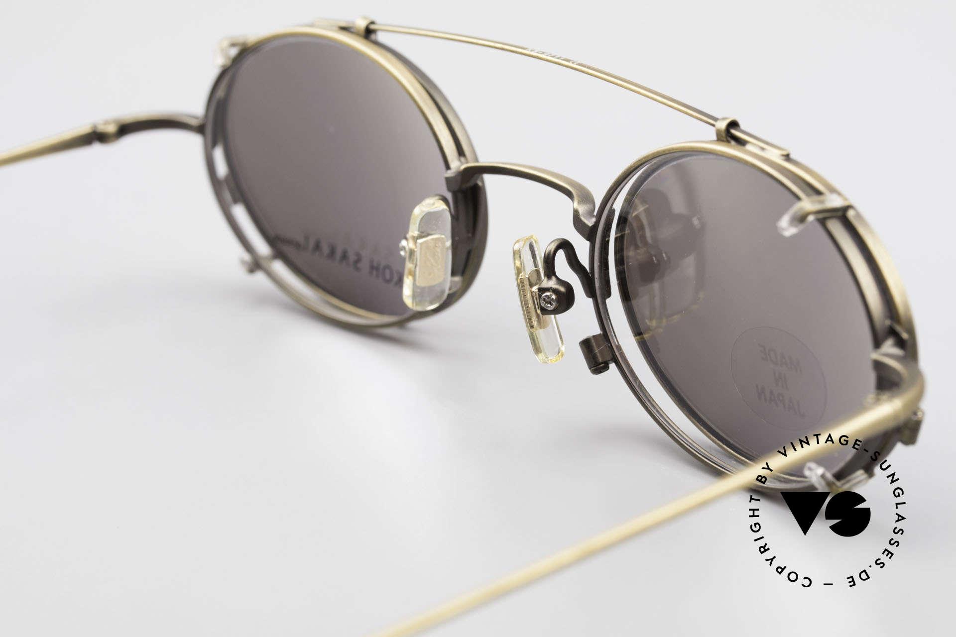 Koh Sakai KS9711 Vintage Glasses Oval Clip On, unworn, NOS (like all our old L.A.+ Sabae eyeglasses), Made for Men and Women