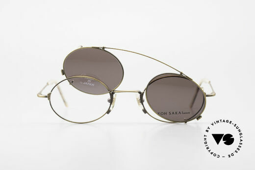 Koh Sakai KS9711 Vintage Glasses Oval Clip On, Size: small, Made for Men and Women