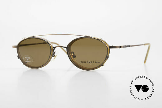 Koh Sakai KS9832 Vintage Glasses With Clip On Details