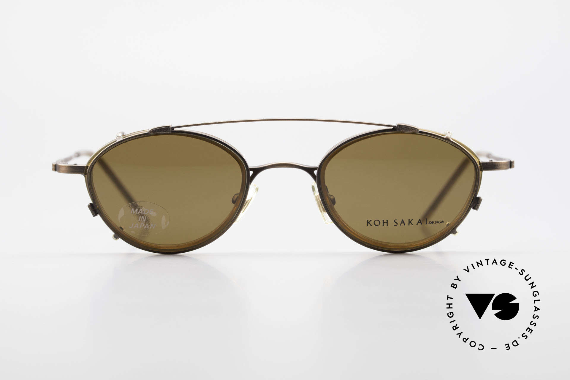 Koh Sakai KS9832 Vintage Glasses With Clip On, Koh Sakai, BADA and OKIO have been one distribution, Made for Men and Women