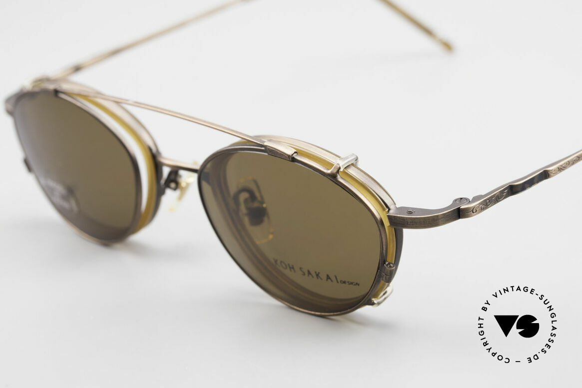 Koh Sakai KS9832 Vintage Glasses With Clip On, made in the same factory like Oliver Peoples & Eyevan, Made for Men and Women