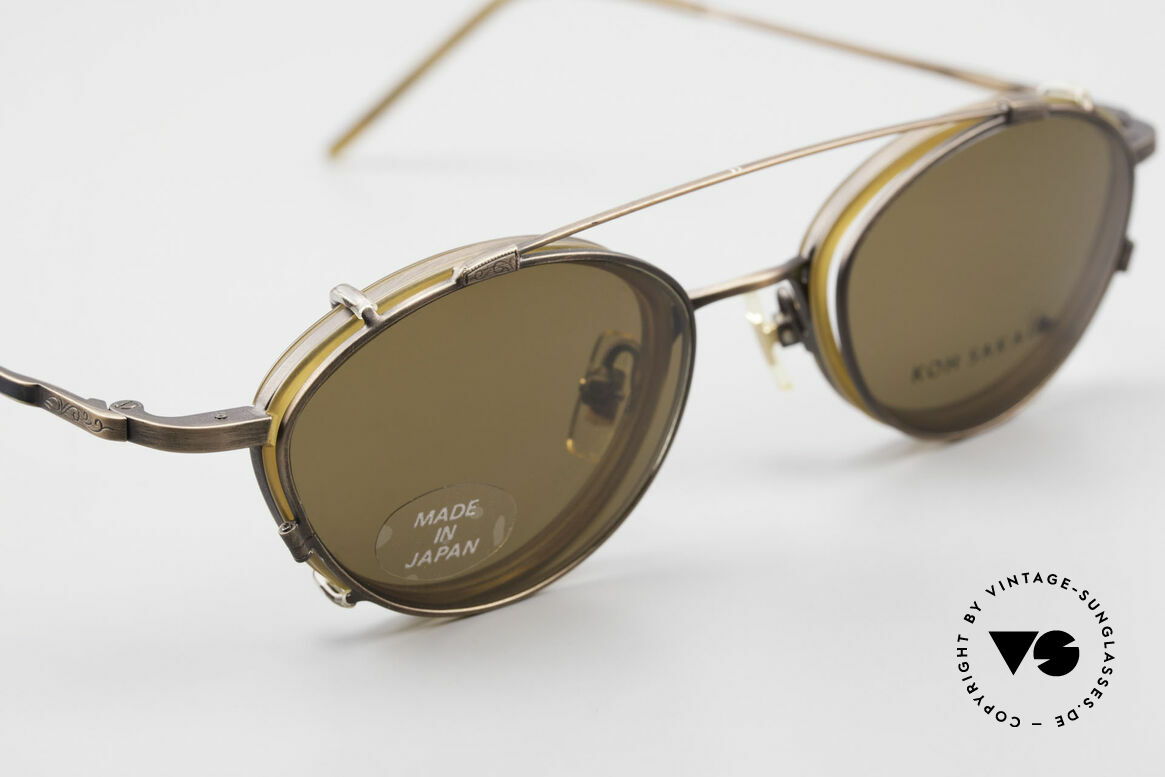 "Koh Sakai KS9832 Vintage Glasses With Clip On, accordingly, the same TOP QUALITY / ""look-and-feel"", Made for Men and Women"