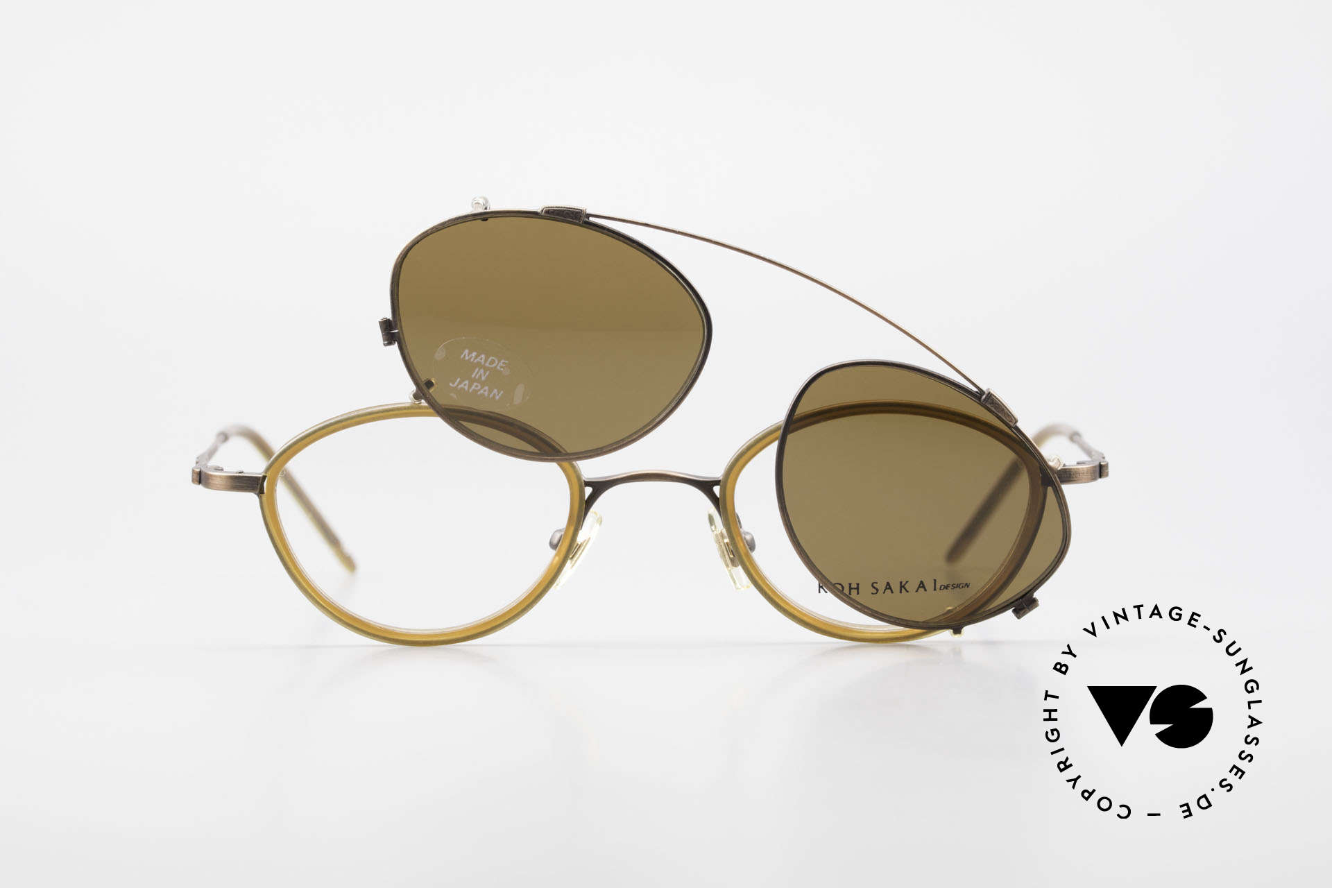 Koh Sakai KS9832 Vintage Glasses With Clip On, Size: medium, Made for Men and Women