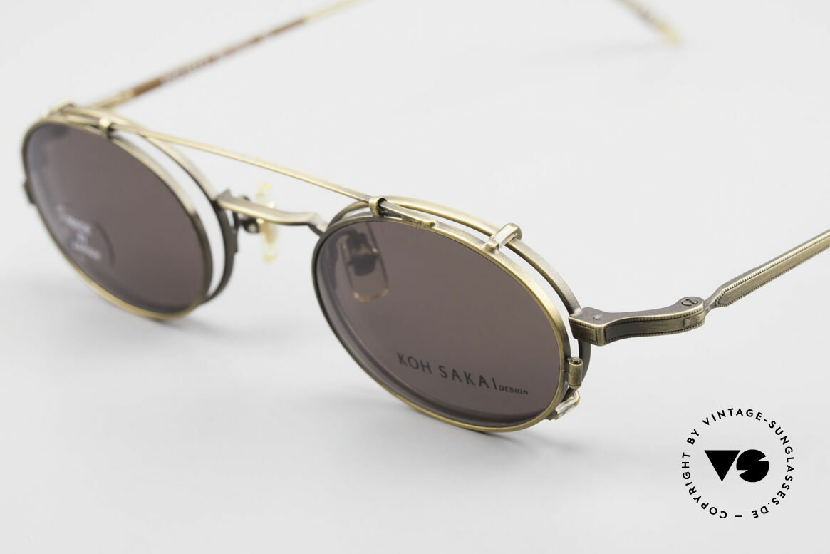 Koh Sakai KS9701 Vintage Metal Frame Clip On, made in the same factory like Oliver Peoples & Eyevan, Made for Men and Women
