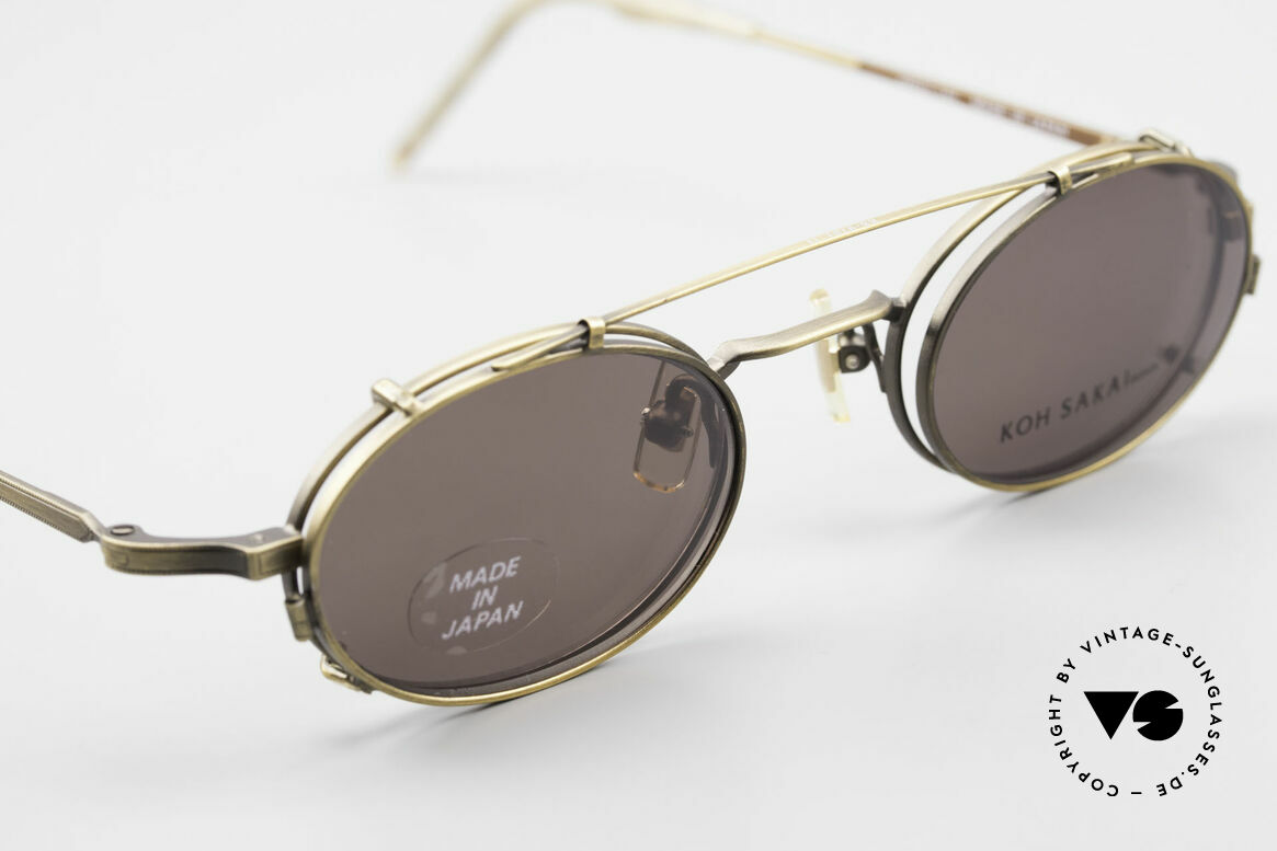 Koh Sakai KS9701 Vintage Metal Frame Clip On, the full metal frame is covered with costly engravings, Made for Men and Women