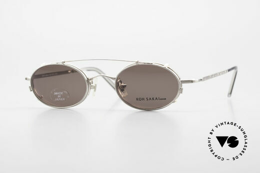 Koh Sakai KS9781 Vintage Metal Glasses Clip On Details