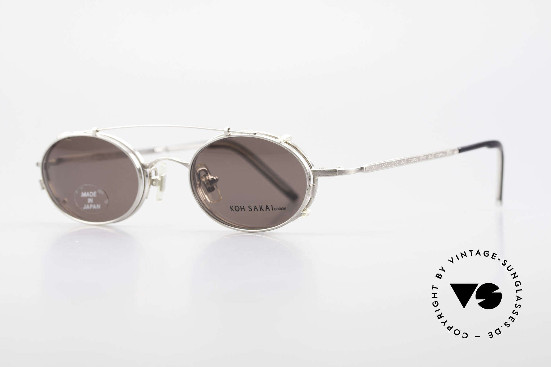 Koh Sakai KS9781 Vintage Metal Glasses Clip On, 1997 designed in Los Angeles; produced in Sabae (Japan), Made for Men and Women
