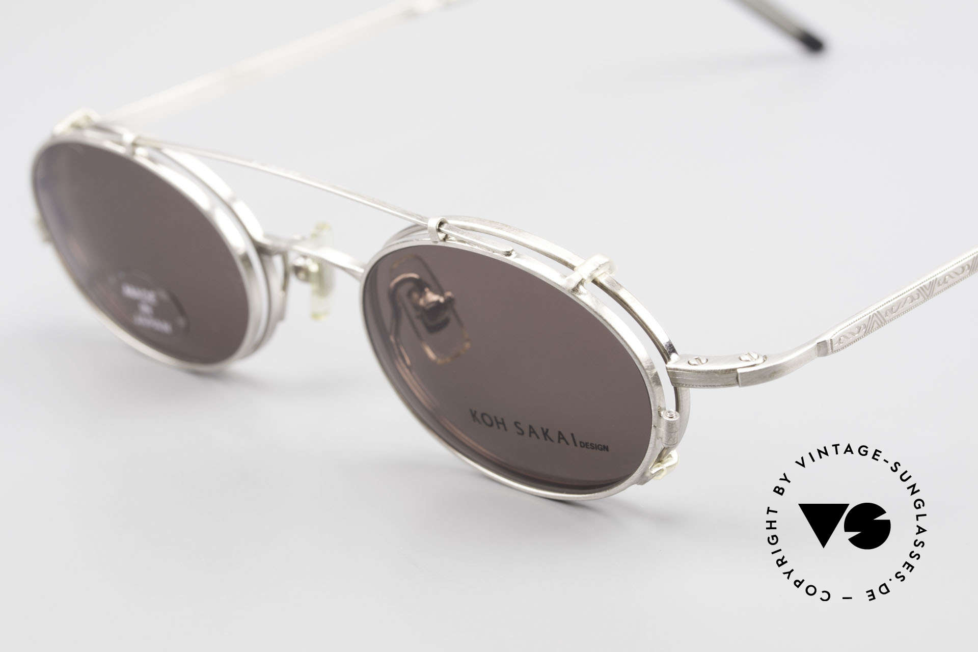 Koh Sakai KS9781 Vintage Metal Glasses Clip On, made in the same factory like Oliver Peoples & Eyevan, Made for Men and Women