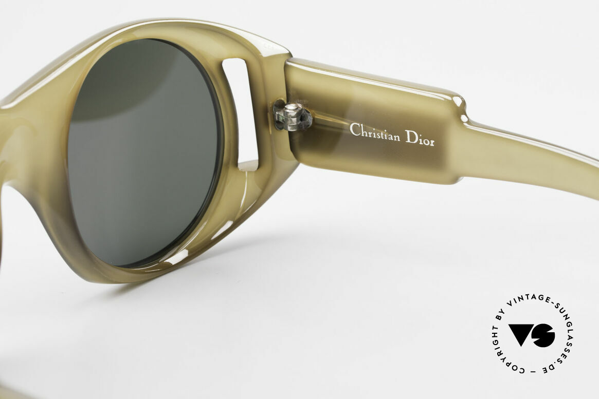 Christian Dior C61 Rare Old 70's Optyl Sunglasses, !! the GREENISH frame looks BROWNISH in the photos !!, Made for Men and Women