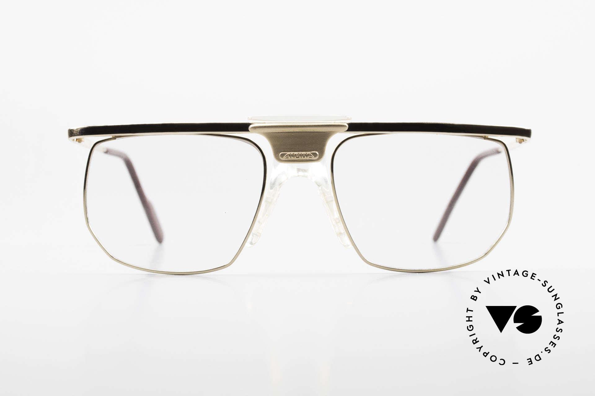 Alpina PSO 905 Vintage Glasses Saddle Bridge, gold-plated frame with a striking nose bridge, Made for Men