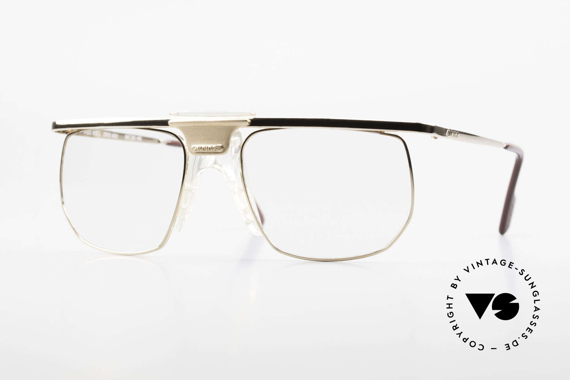 Alpina PSO 905 Vintage Glasses Saddle Bridge, the nose pad looks like a saddle; truly unique!, Made for Men
