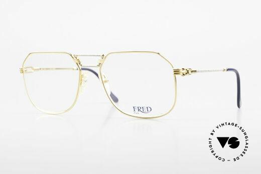 Fred Cap Horn - L Rare Luxury Eyeglasses 80's Details