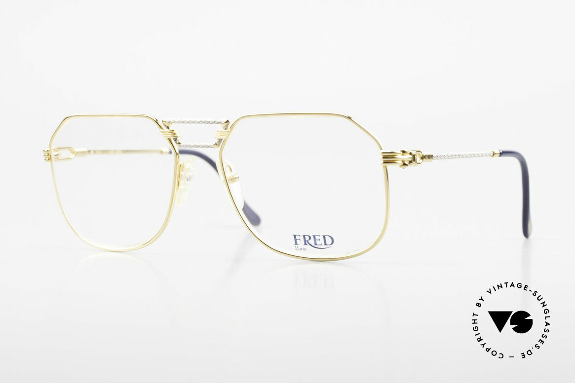 Fred Cap Horn - L Rare Luxury Eyeglasses 80's, precious 1980's eyeglasses by Fred in Large size 58-18, Made for Men