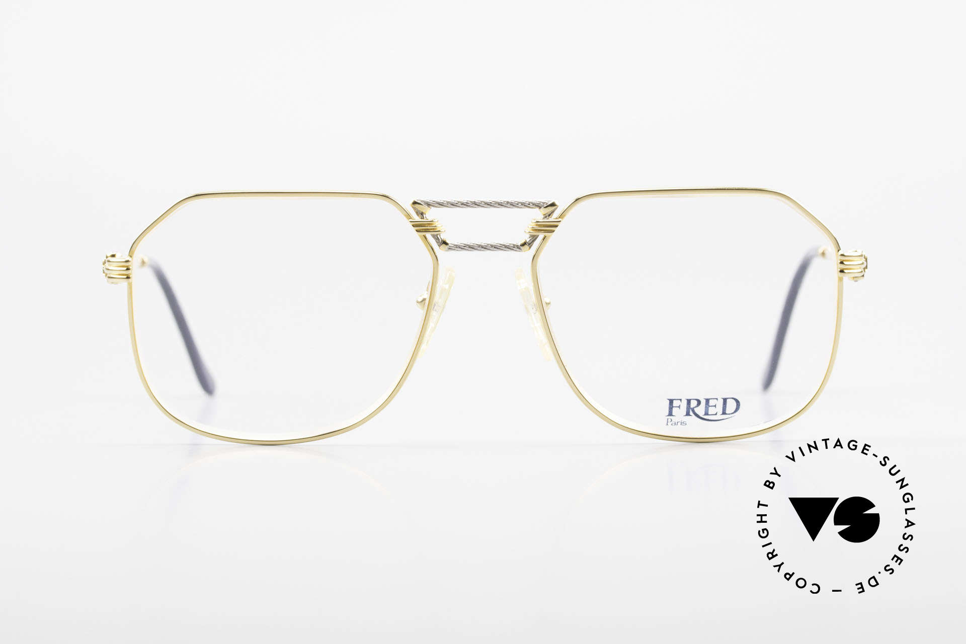 Fred Cap Horn - L Rare Luxury Eyeglasses 80's, marine design (distinctive FRED) in high-end quality, Made for Men