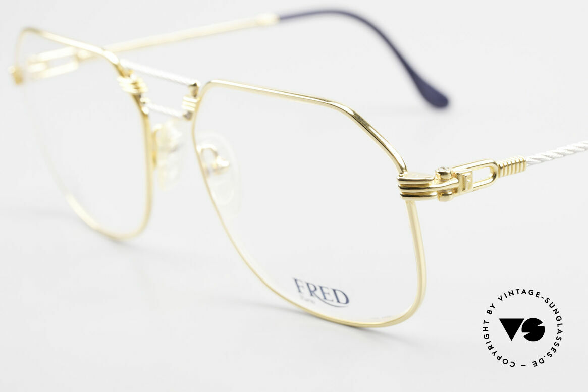 Fred Cap Horn - L Rare Luxury Eyeglasses 80's, temples and bridge are twisted like a hawser; unique!, Made for Men