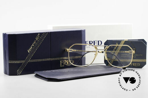 Fred Cap Horn - L Rare Luxury Eyeglasses 80's, unworn rarity incl. original case and packing; VERTU!, Made for Men