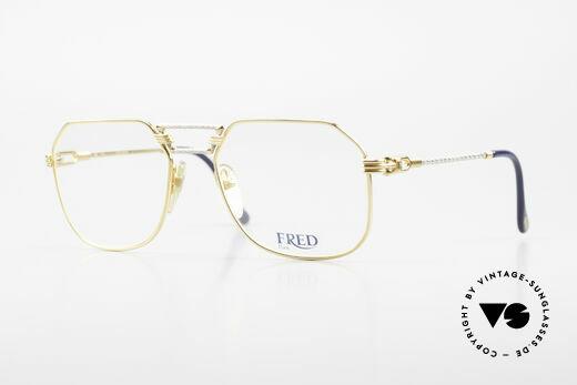 Fred Cap Horn - M Rare 80's Luxury Eyeglasses Details