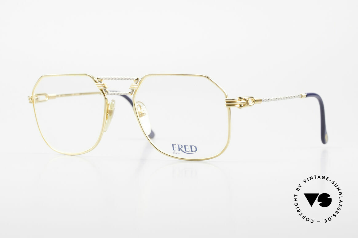 Fred Cap Horn - M Rare 80's Luxury Eyeglasses, precious 80's eyeglasses by Fred in medium size 54-18, Made for Men