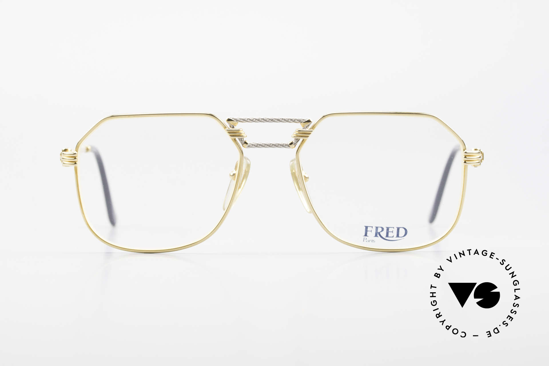 Fred Cap Horn - M Rare 80's Luxury Eyeglasses, marine design (distinctive FRED) in high-end quality, Made for Men