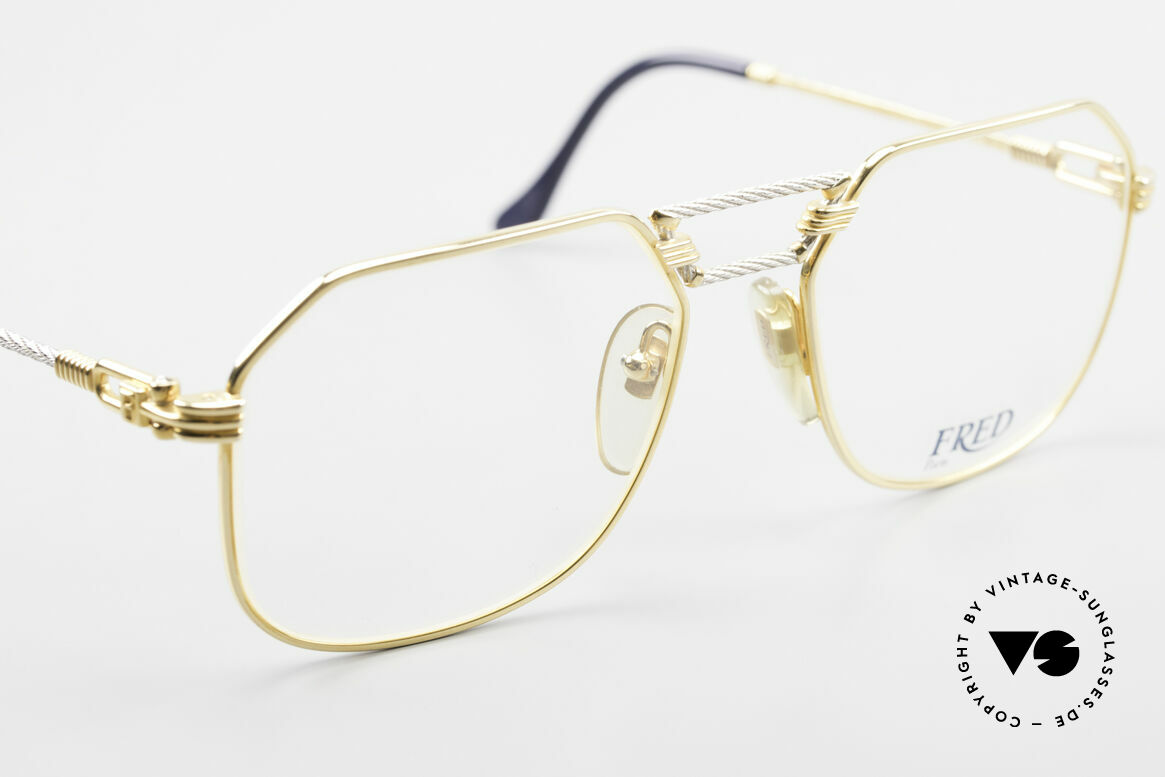 Fred Cap Horn - M Rare 80's Luxury Eyeglasses, precious bicolor edition, Platinum and 23ct gold-plated, Made for Men