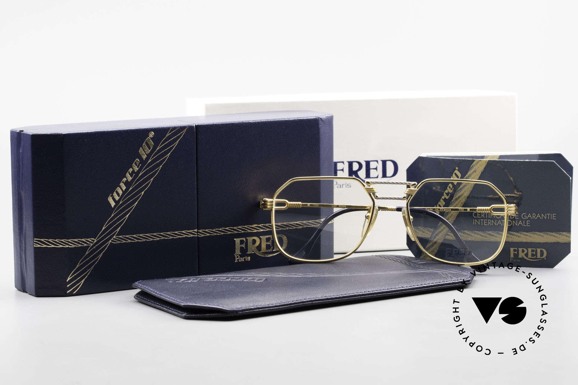Fred Cap Horn - M Rare 80's Luxury Eyeglasses, unworn rarity incl. original case and packing; VERTU!, Made for Men