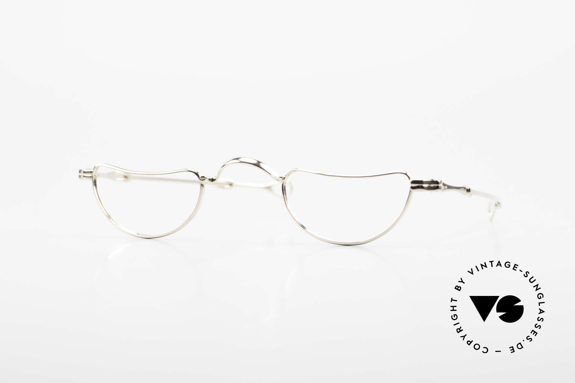 Lunor Goldbrille Solid Gold Glasses 16ct Frame, solid gold glasses from the 1st Lunor collection, ever, Made for Men and Women