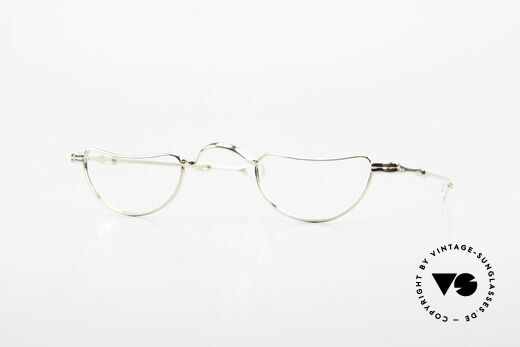 Lunor Goldbrille Solid Gold Glasses 16ct Frame Details
