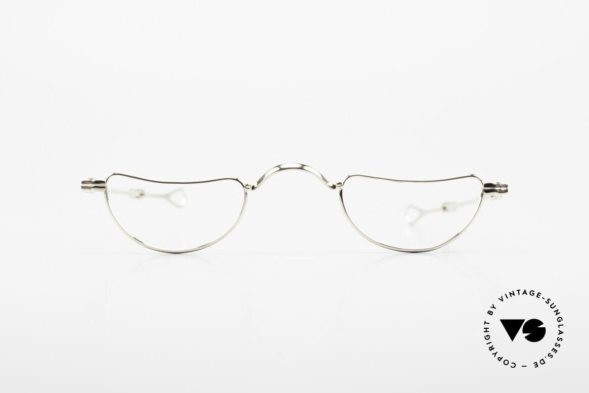 Lunor Goldbrille Solid Gold Glasses 16ct Frame, model I-07: I = 1st series, 07 = gold reading eyeglasses, Made for Men and Women