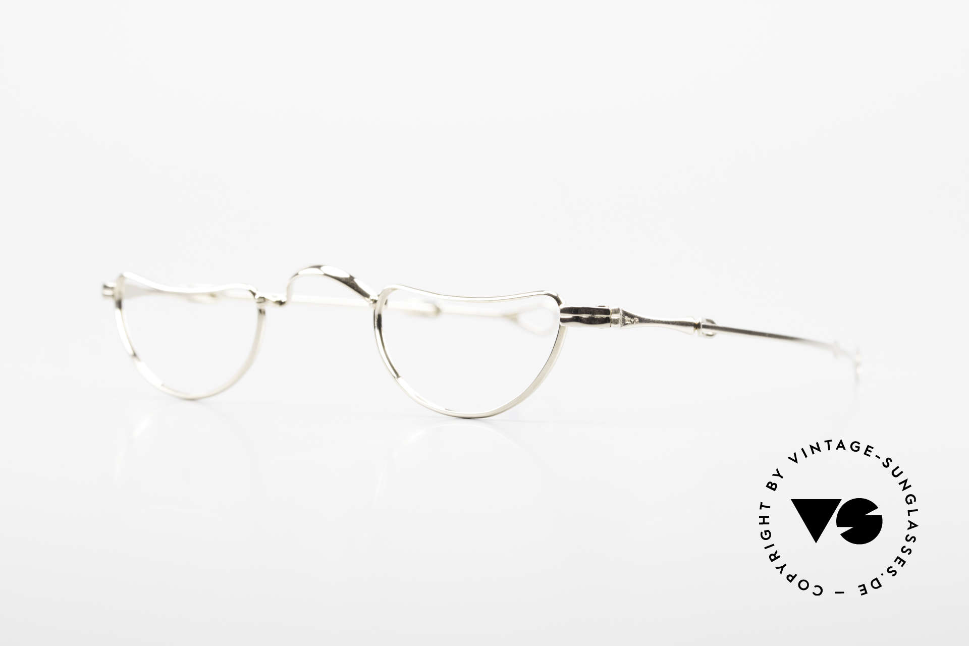 Lunor Goldbrille Solid Gold Glasses 16ct Frame, the frame is made from 16ct GOLD and 2ct PLATINUM, Made for Men and Women