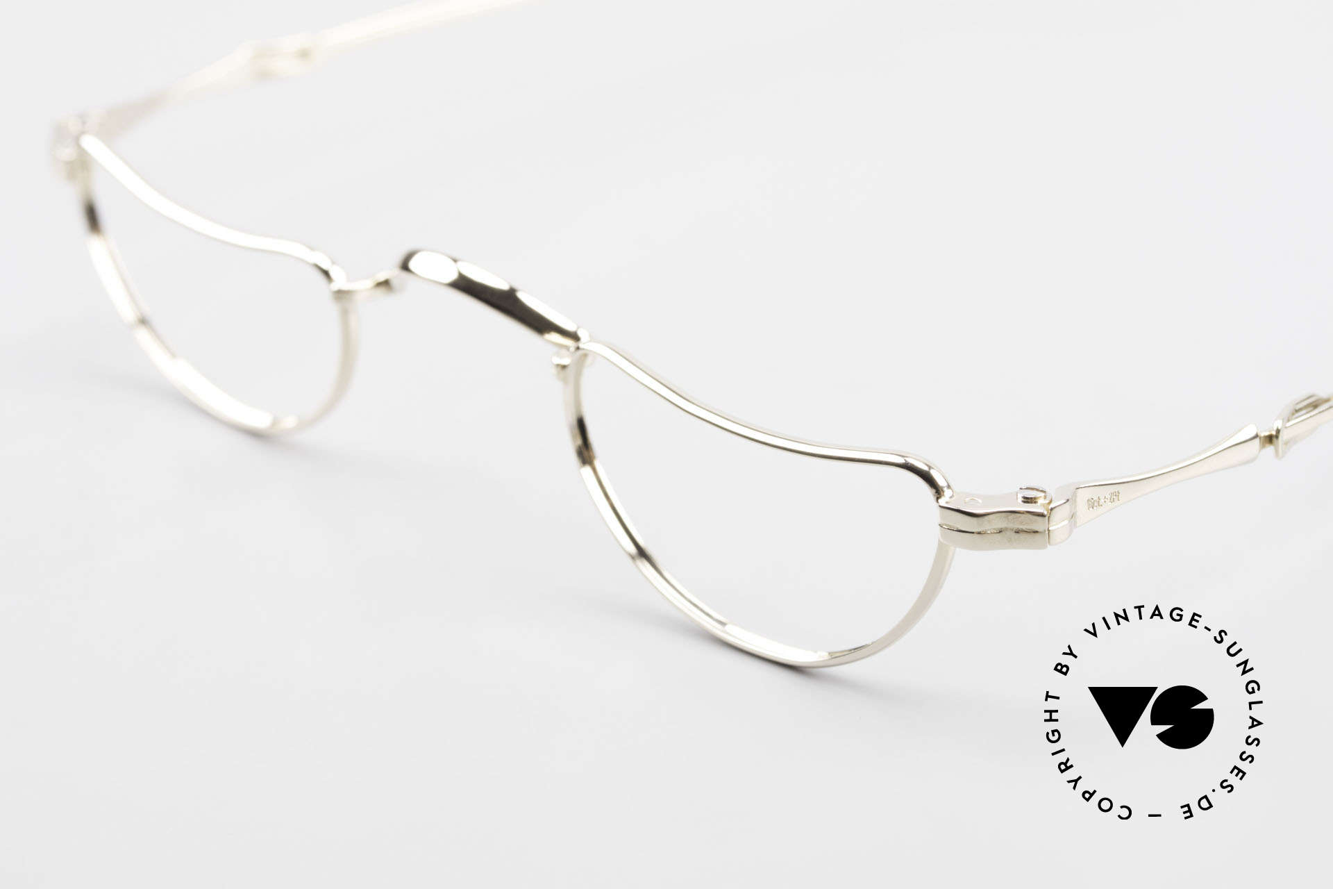 Lunor Goldbrille Solid Gold Glasses 16ct Frame, pure LUXURY eyeglasses with legendary slide temples, Made for Men and Women