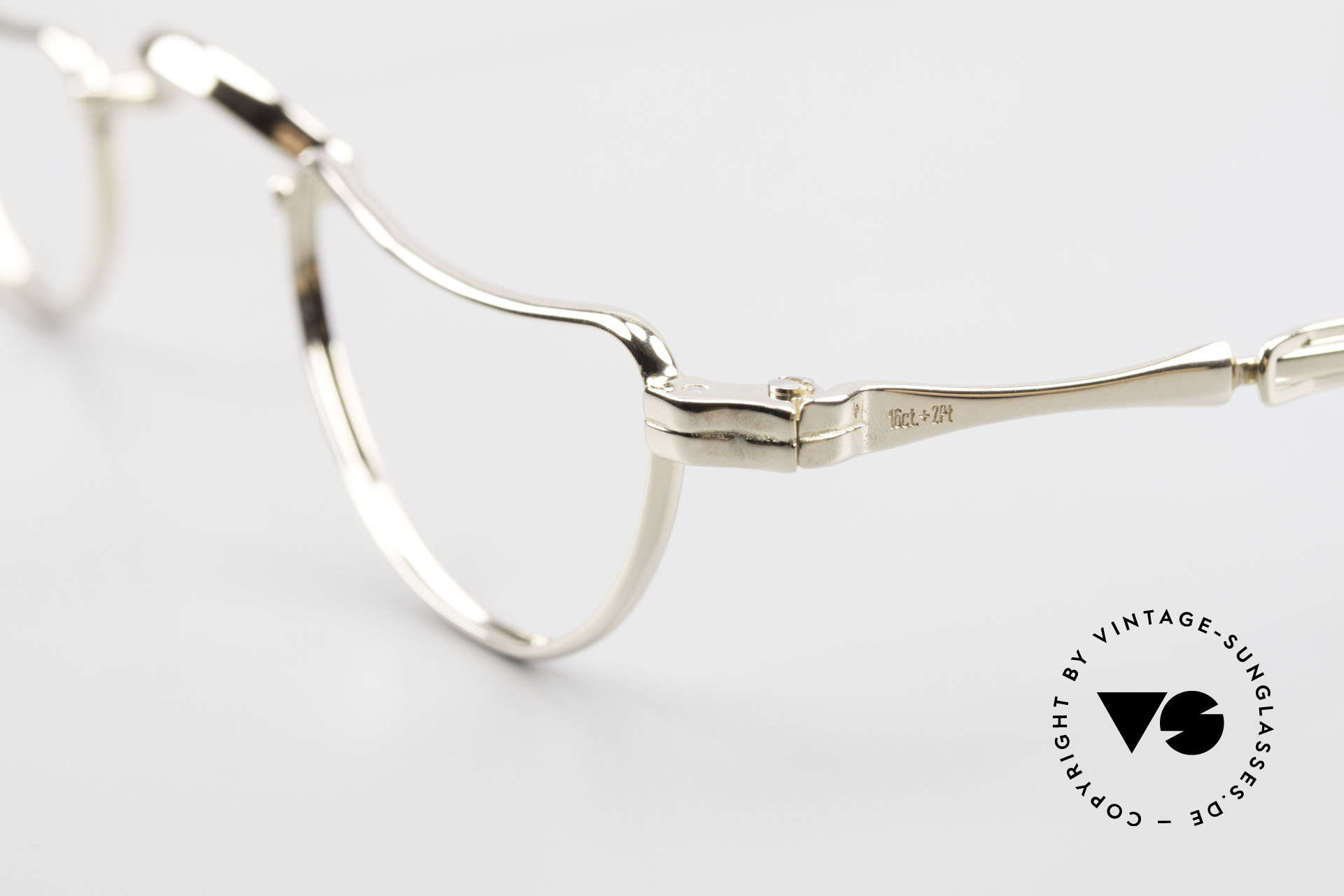 Lunor Goldbrille Solid Gold Glasses 16ct Frame, Lunor company history (only 100pcs were made in 1991), Made for Men and Women