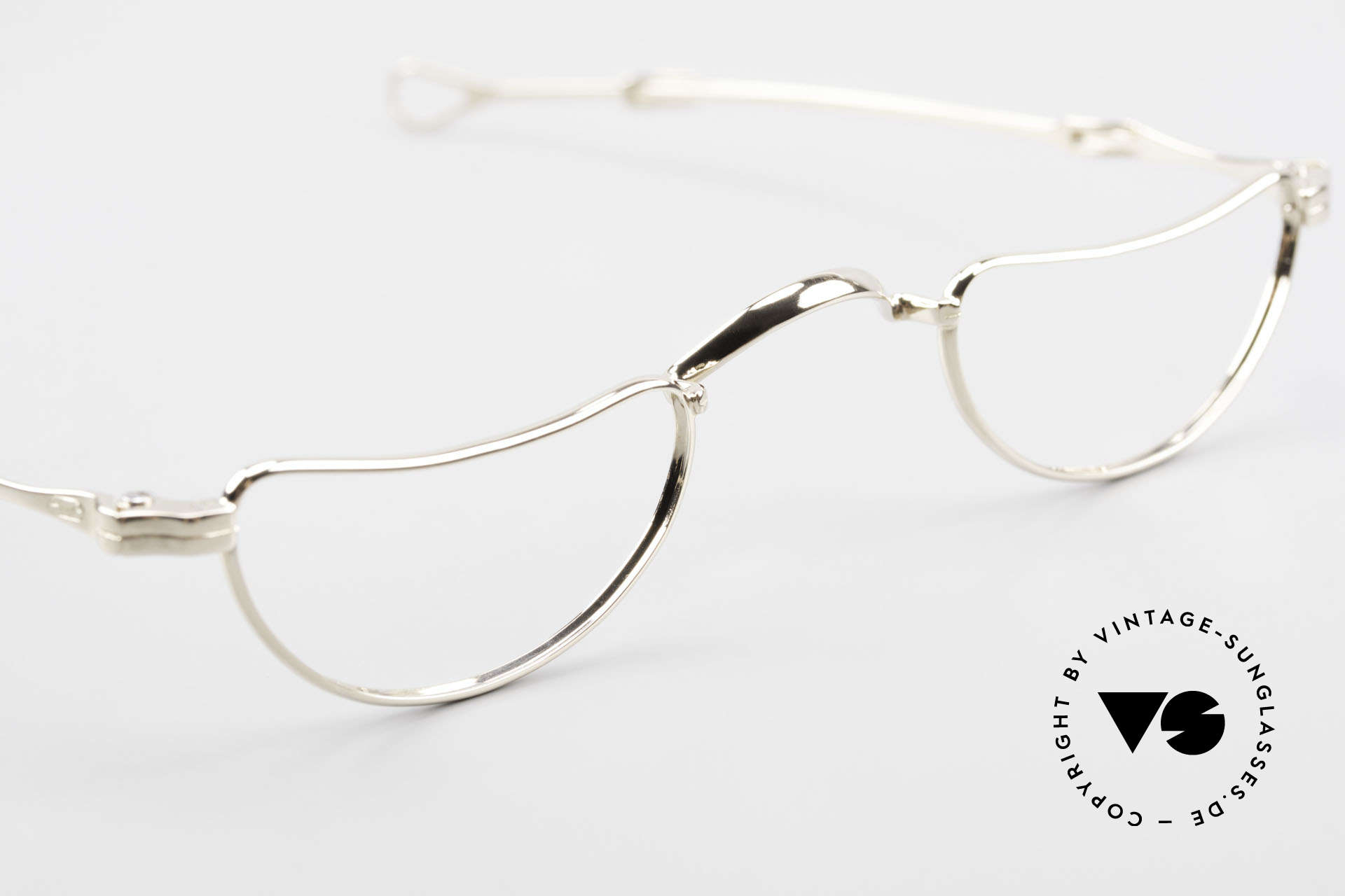 Lunor Goldbrille Solid Gold Glasses 16ct Frame, unworn ORIGINAL from 1991 (for all lovers of quality), Made for Men and Women